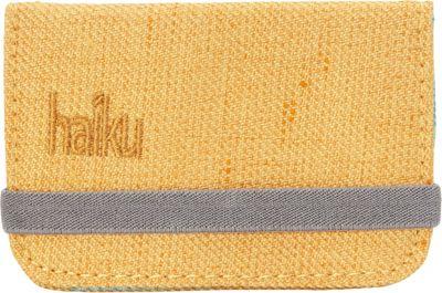 Haiku RFID Mini Wallet Amber Gold - Haiku Women's Wallets
