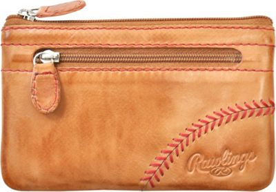 Rawlings Baseball Stitch Pouch With Credit Card Insert Tan - Rawlings Leather Handbags