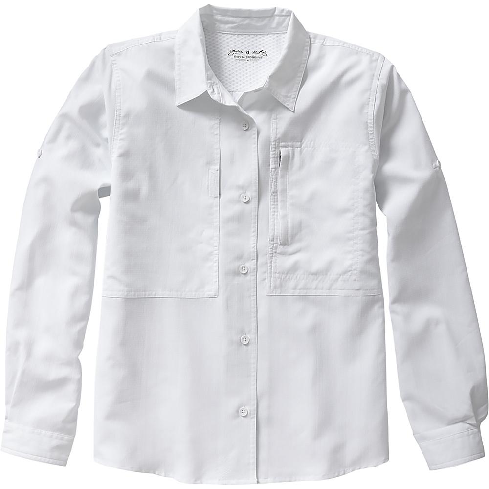 Royal Robbins Womens Expedition Stretch Long Sleeve Shirt XS - White - Royal Robbins Mens Apparel - Apparel & Footwear, Men's Apparel