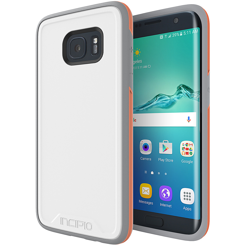 Incipio Performance Series Level 3 for Samsung Galaxy S7 Edge White/Orange - Incipio Electronic Cases - Technology, Electronic Cases