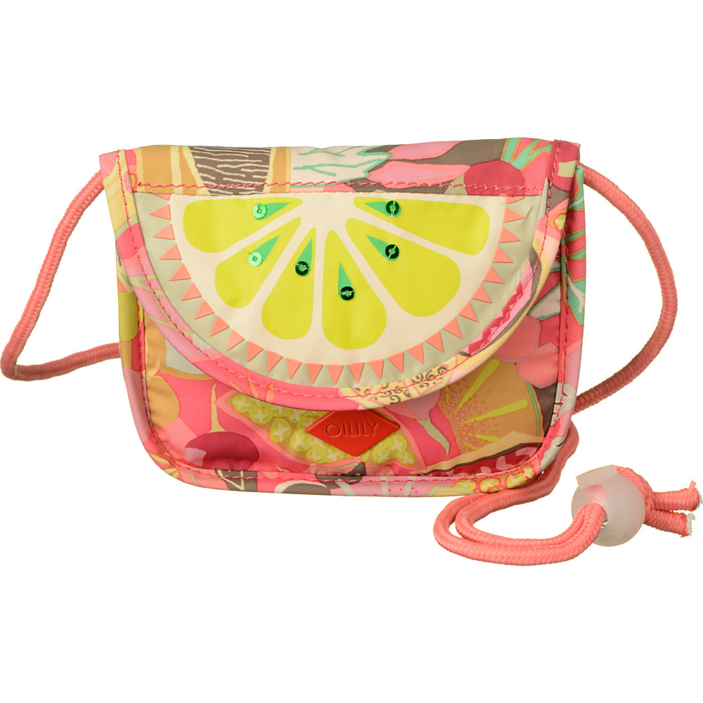 Oilily Hang Wallet Candy Pink Oilily Fabric Handbags