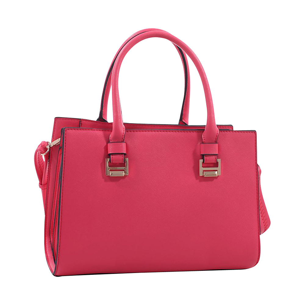 MKF Collection Chevy Designer Satchel Coral MKF Collection Manmade Handbags