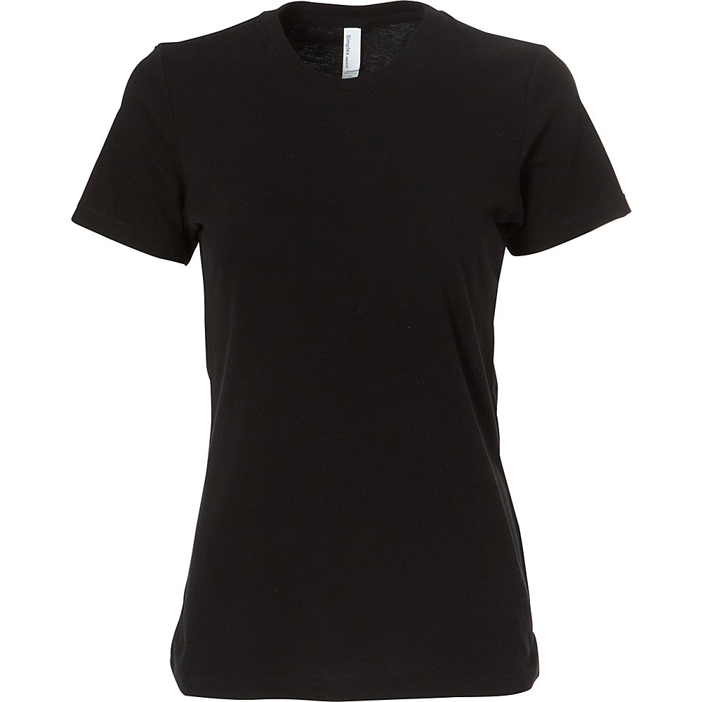 Simplex Apparel CVC Womens Crew Tee S - Black - Simplex Apparel Womens Apparel - Apparel & Footwear, Women's Apparel