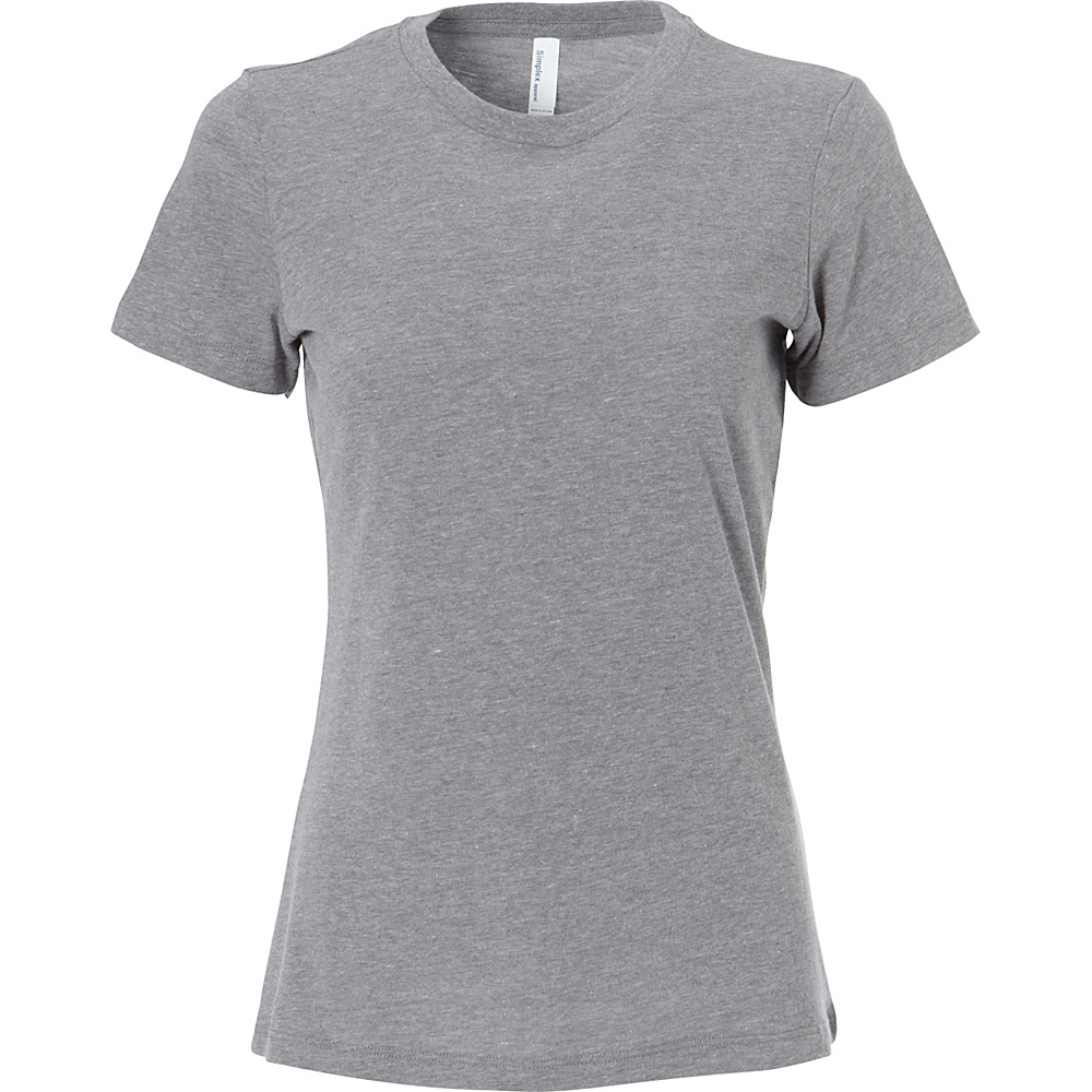 Simplex Apparel CVC Womens Crew Tee S - Dark Heather Grey - Simplex Apparel Womens Apparel - Apparel & Footwear, Women's Apparel