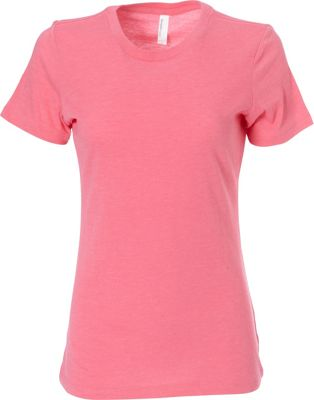 Simplex Apparel CVC Women's Crew Tee L - Hot Pink - Simplex Apparel Women's Apparel