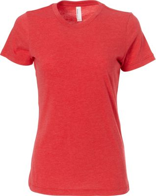 Simplex Apparel CVC Women's Crew Tee S - Red - Simplex Apparel Women's Apparel