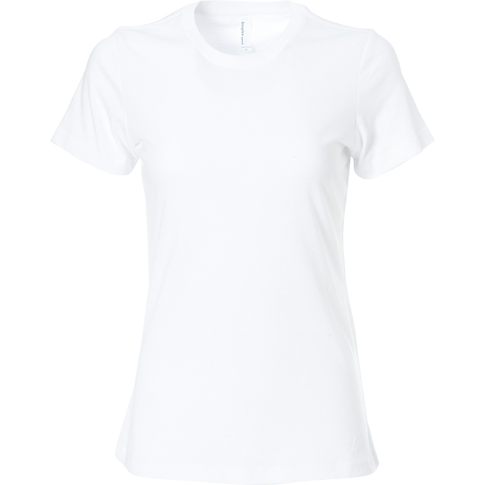 Simplex Apparel CVC Womens Crew Tee XS - White - Simplex Apparel Womens Apparel - Apparel & Footwear, Women's Apparel