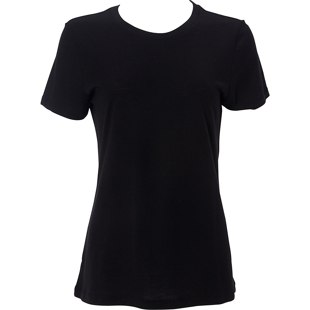 Simplex Apparel Modal Womens Crew Tee L - Black - Simplex Apparel Womens Apparel - Apparel & Footwear, Women's Apparel