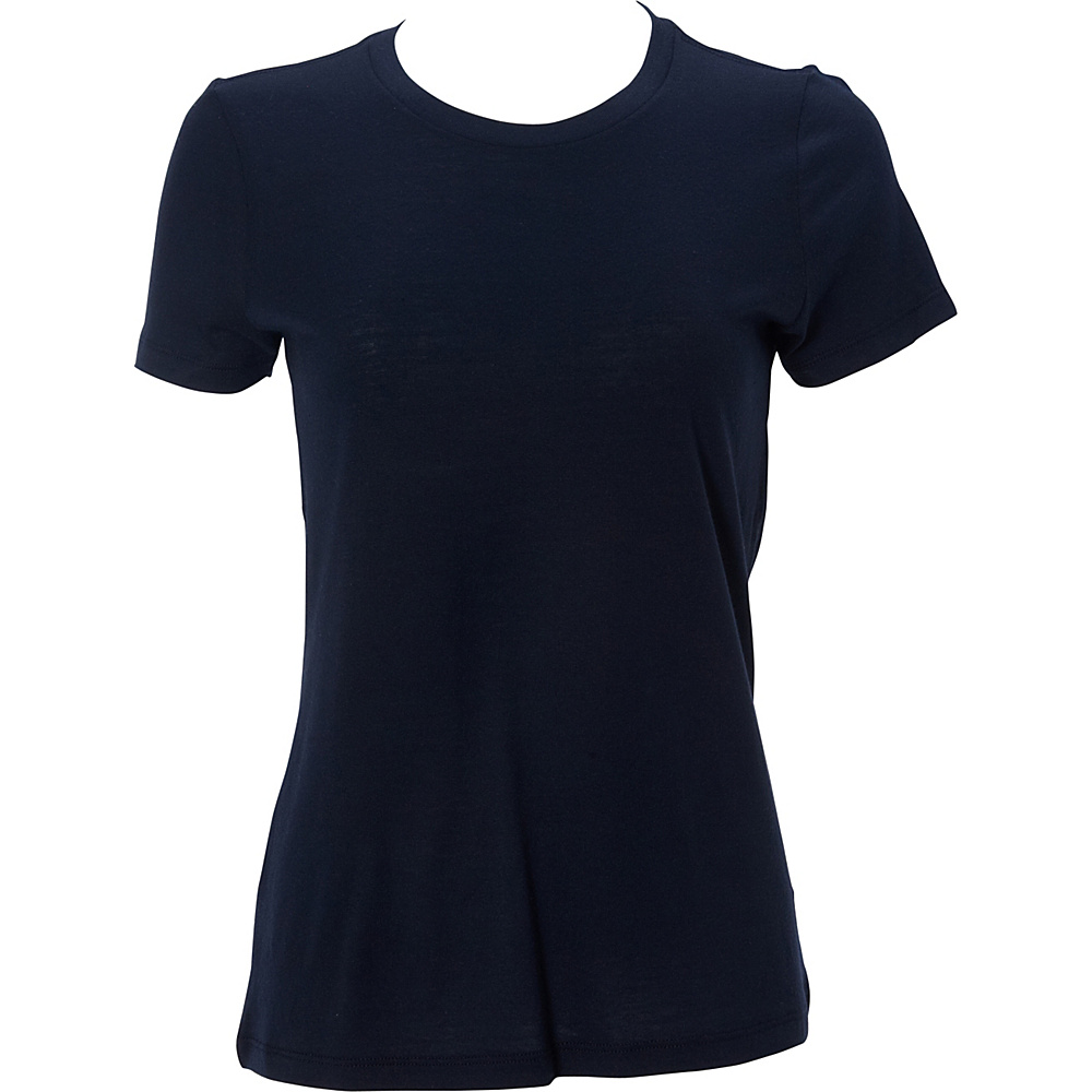 Simplex Apparel Modal Womens Crew Tee L - Navy - Simplex Apparel Womens Apparel - Apparel & Footwear, Women's Apparel