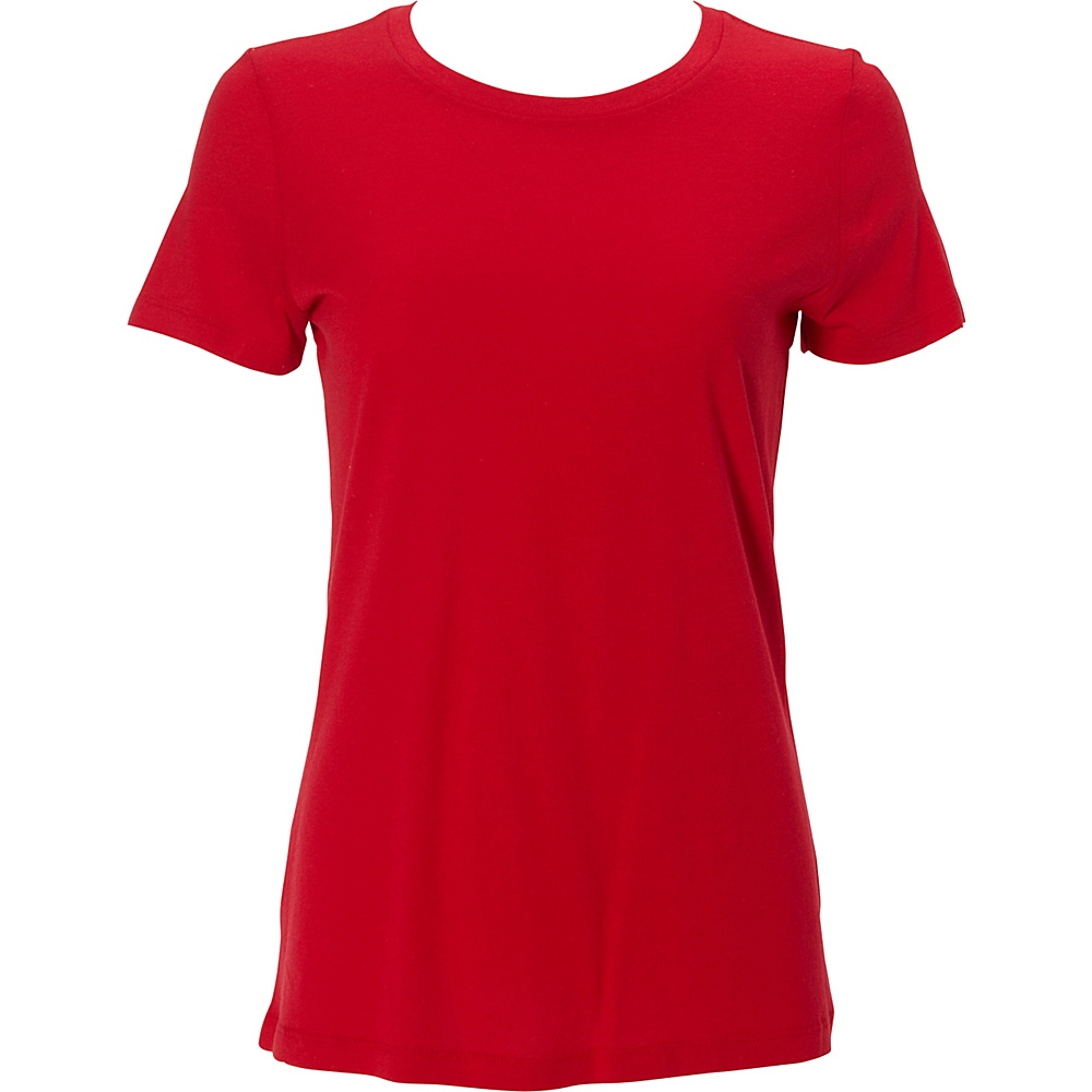 Simplex Apparel Modal Womens Crew Tee S - Red - Simplex Apparel Womens Apparel - Apparel & Footwear, Women's Apparel