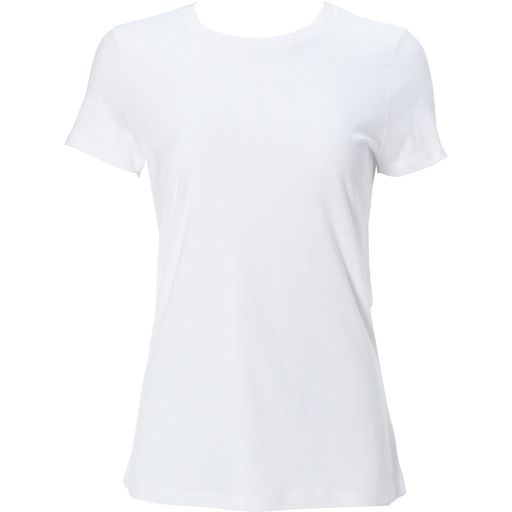 Simplex Apparel Modal Womens Crew Tee XL - White - Simplex Apparel Womens Apparel - Apparel & Footwear, Women's Apparel