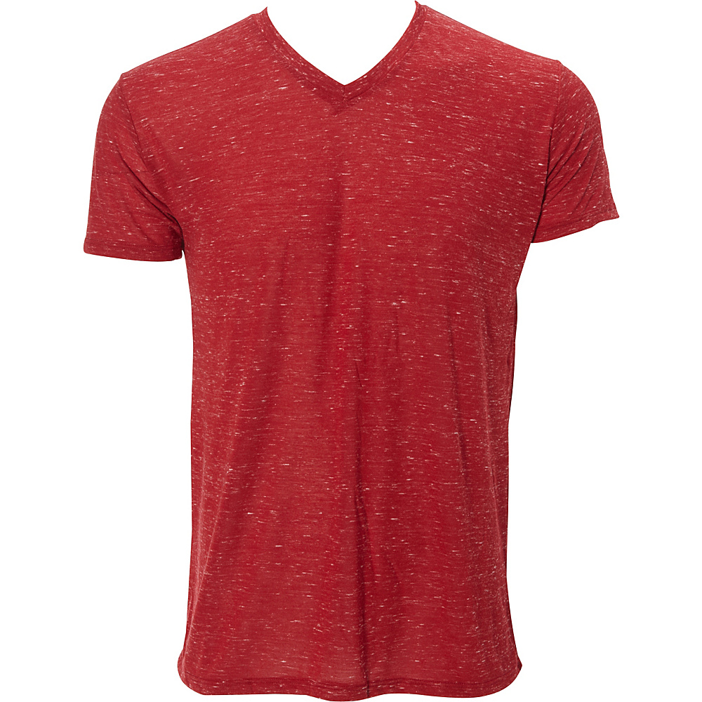 Simplex Apparel Caviar Mens V Tee L - Maroon - Simplex Apparel Mens Apparel - Apparel & Footwear, Men's Apparel