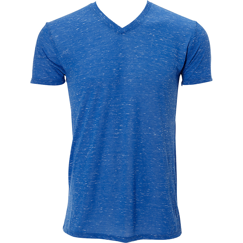 Simplex Apparel Caviar Mens V Tee L - Royal - Simplex Apparel Mens Apparel - Apparel & Footwear, Men's Apparel