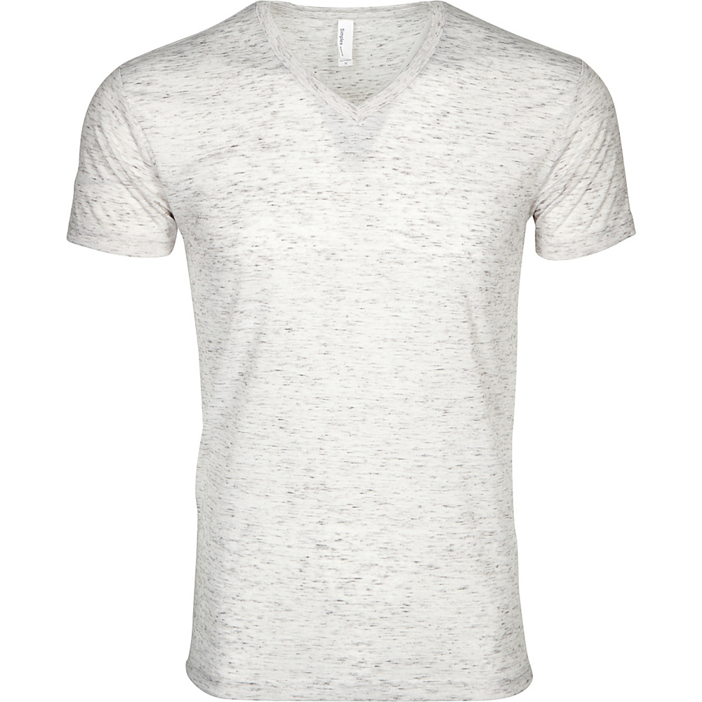 Simplex Apparel Caviar Mens V Tee S - Speckled White - Simplex Apparel Mens Apparel - Apparel & Footwear, Men's Apparel