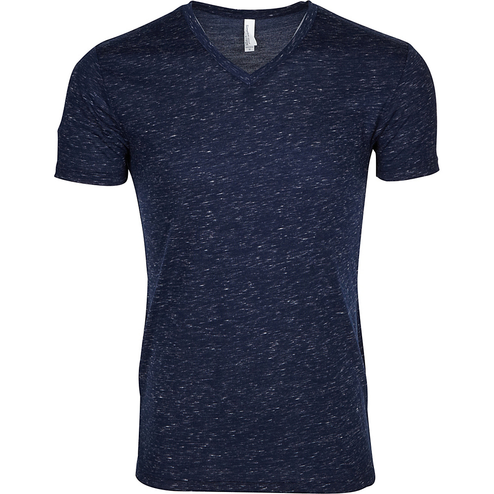 Simplex Apparel Caviar Mens V Tee S - Navy - Simplex Apparel Mens Apparel - Apparel & Footwear, Men's Apparel