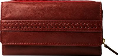Hidesign Mina Trifold Leather wallet Red - Hidesign Women's Wallets