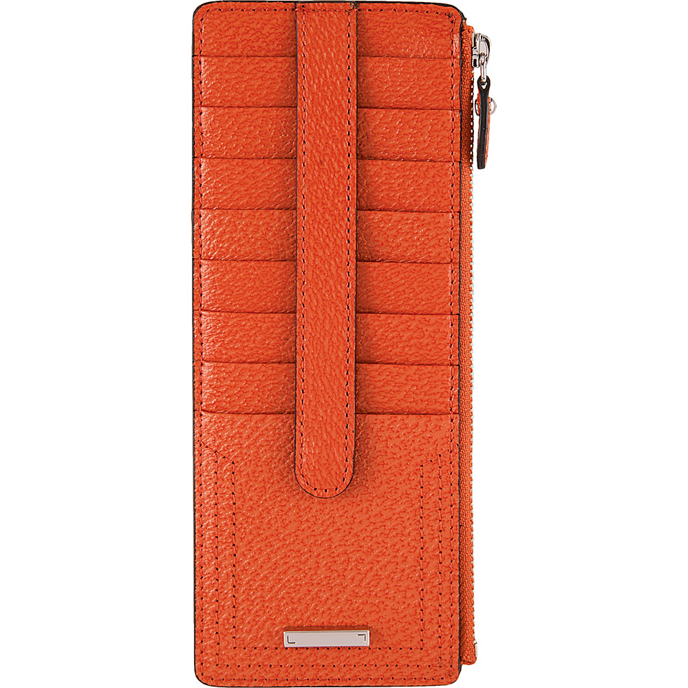 Lodis Stephanie Under Lock & Key Credit Card Case W/Zip Orange - Lodis Womens Wallets - Women's SLG, Women's Wallets