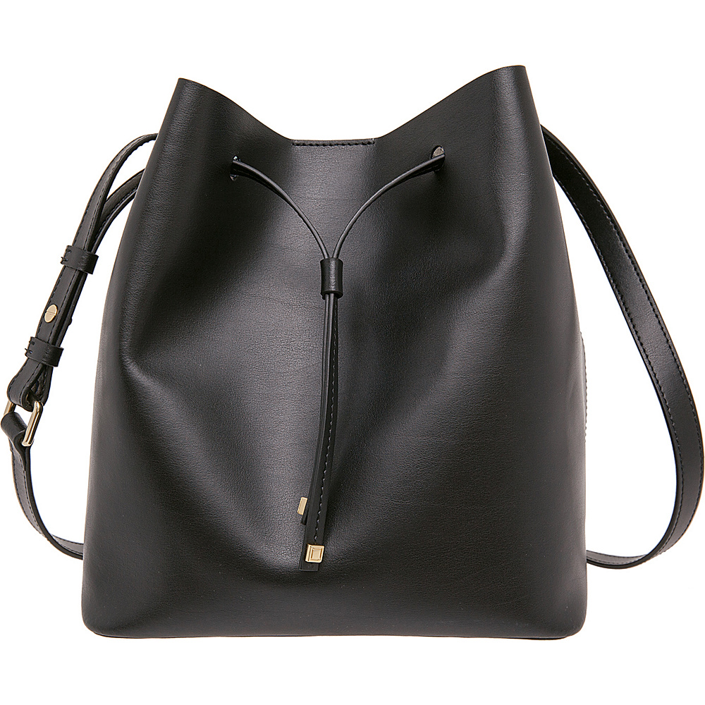 Lodis Blair Gail Medium Crossbody Black/Taupe - Lodis Leather Handbags - Handbags, Leather Handbags