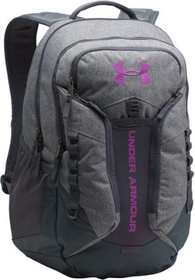Under Armour Contender Backpack Graphite Medium Heather/Graphite/Purple Rave - Under Armour Business & Laptop Backpacks