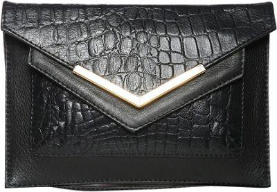 Gregory Sylvia Devin Clutch Black - Gregory Sylvia Leather Handbags
