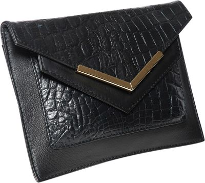 Gregory Sylvia Devin Clutch Black - Gregory Sylvia Leather Handbags