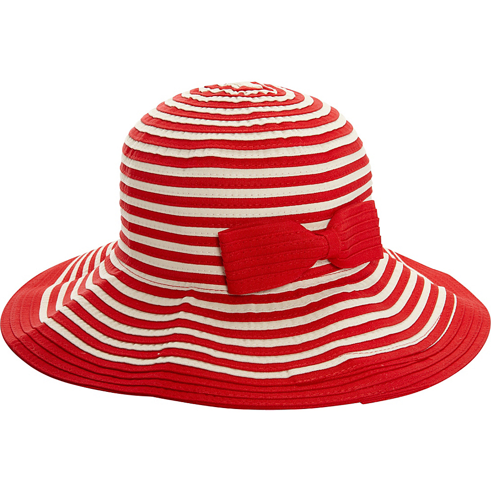 Sun N Sand Snap and Go Ribbon Hat One Size - Red - Sun N Sand Hats/Gloves/Scarves - Fashion Accessories, Hats/Gloves/Scarves
