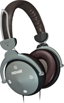 Maxell HP-550 Full-Size Digital Headphones with In-Line Volume Control Gray - Maxell Headphones & Speakers