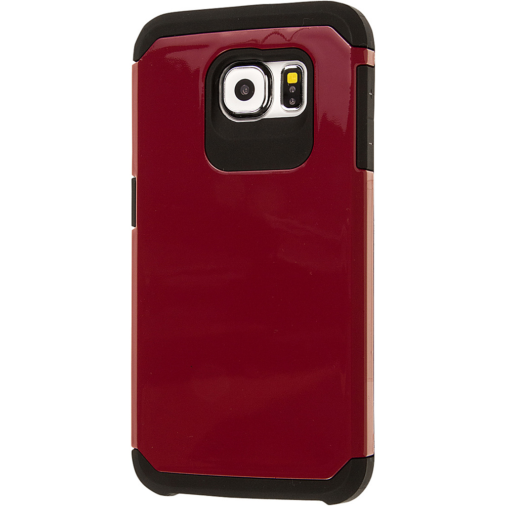 EMPIRE MINX Slim Protection Hybrid Case for Samsung Galaxy S6 Burgundy EMPIRE Electronic Cases