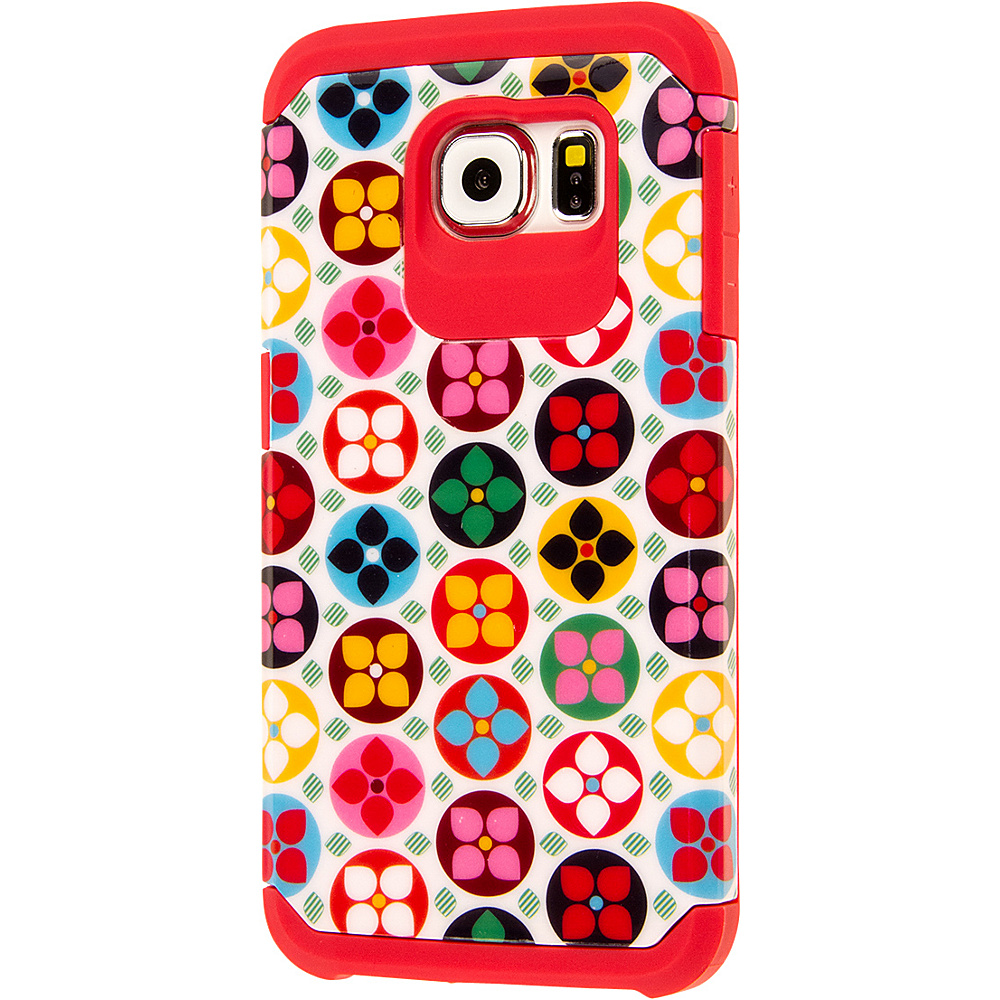 EMPIRE MINX Slim Protection Hybrid Case for Samsung Galaxy S6 Pink Pinwheel Flowers EMPIRE Electronic Cases