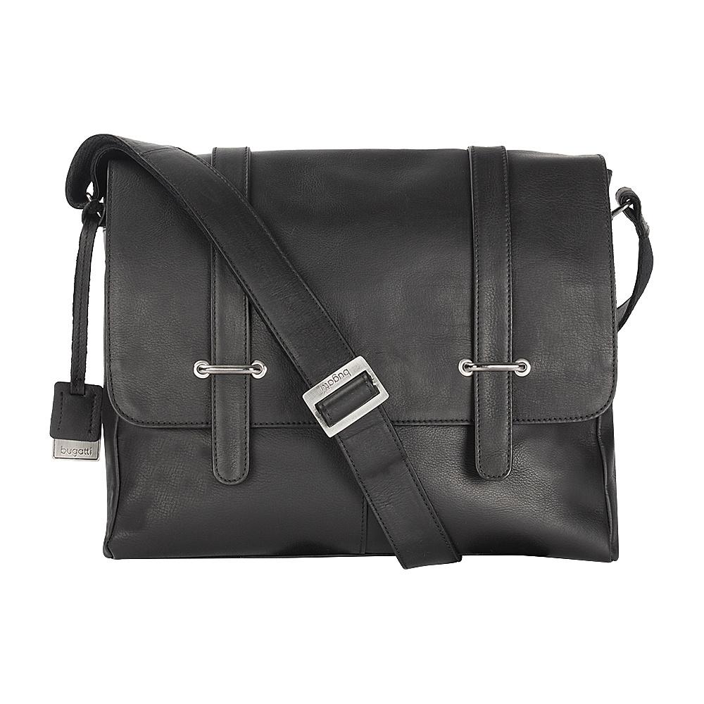 Bugatti Bello Leather Messenger Black Bugatti Messenger Bags
