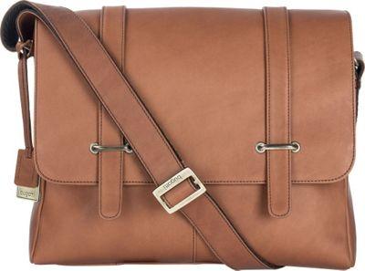 Bugatti Bello Leather Messenger Cognac - Bugatti Messenger Bags