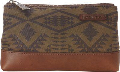 Pendleton Zip Pouch Diamond River Tonal - Pendleton Fabric Handbags