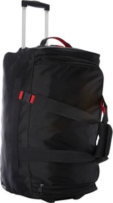"""Image of A. Saks 25"""" Expandable Trolley Duffel Black/Red - A. Saks Softside Checked"""