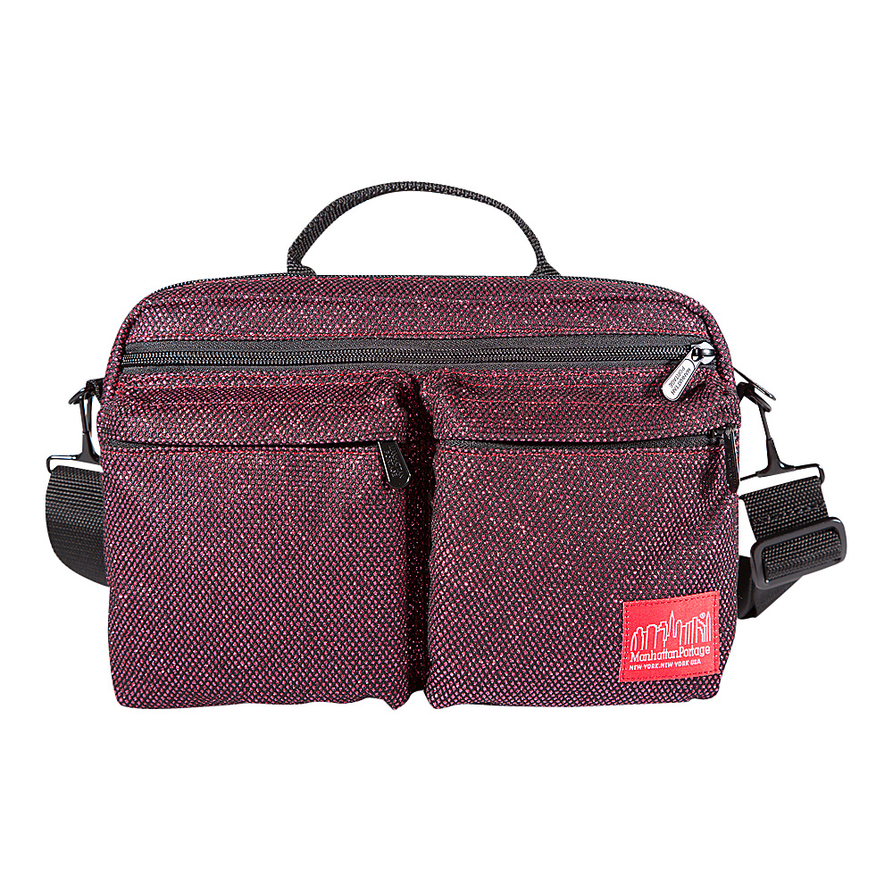 Manhattan Portage Midnight Albany Shoulder Bag Burgundy - Manhattan Portage Other Mens Bags - Work Bags & Briefcases, Other Men's Bags