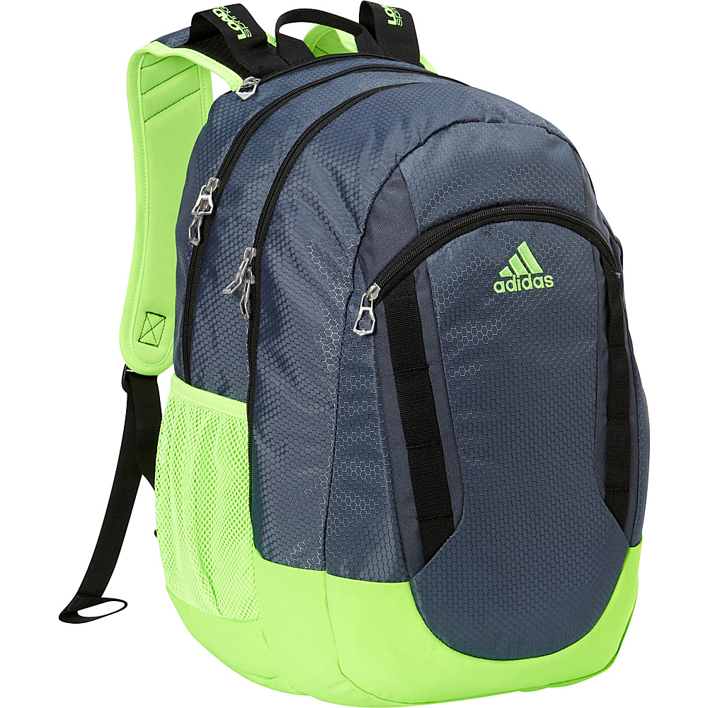 adidas Excel II Laptop Backpack Deepest Space/Solar Green/Black - adidas Laptop Backpacks