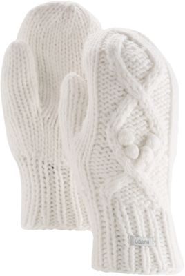 Burton Womens Chloe Mitten One Size - Stout White - Burton Hats/Gloves/Scarves