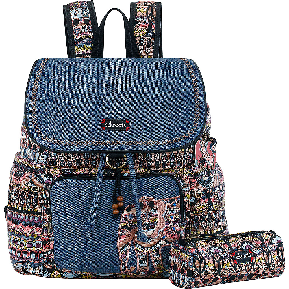 Sakroots Artist Circle Signature Backpack Taupe One World - Sakroots School & Day Hiking Backpacks