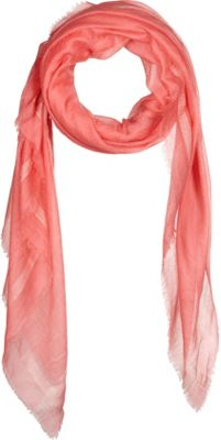 Kinross Cashmere Cashmere Scarf with Silk Border Quince - Kinross Cashmere Hats/Gloves/Scarves