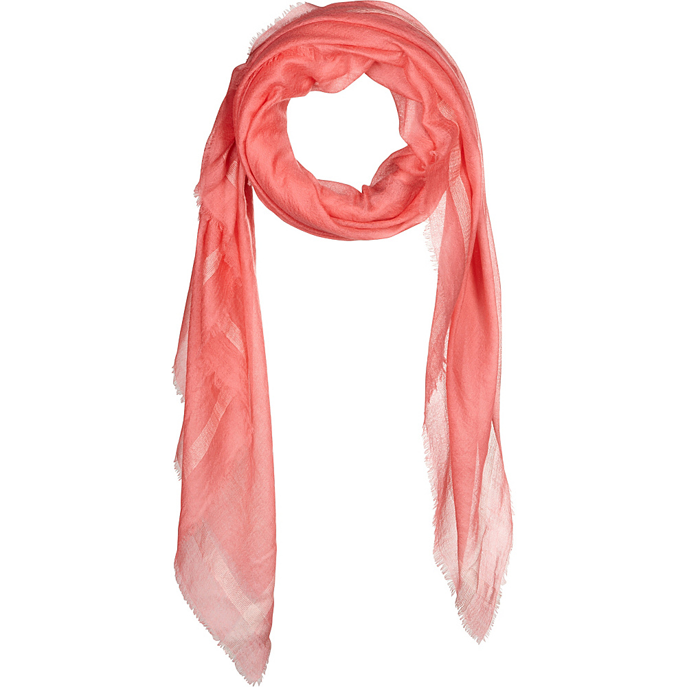 Kinross Cashmere Cashmere Scarf with Silk Border Quince Kinross Cashmere Hats Gloves Scarves