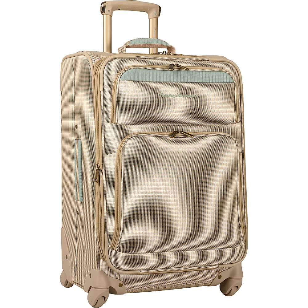 "Tommy Bahama Bahama Mama 24"" Expandable Spinner Champagne/Light Blue - Tommy Bahama Large Rolling Luggage"