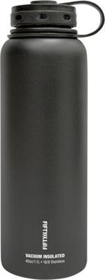 FIFTY/FIFTY Vacuum-Insulated Bottle-40oz Matte Black - FIFTY/FIFTY Hydration Packs and Bottles