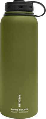 FIFTY/FIFTY Vacuum-Insulated Bottle-40oz Olive Green - FIFTY/FIFTY Hydration Packs and Bottles
