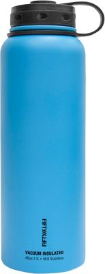 FIFTY/FIFTY Vacuum-Insulated Bottle-40oz Crater Blue - FIFTY/FIFTY Hydration Packs and Bottles