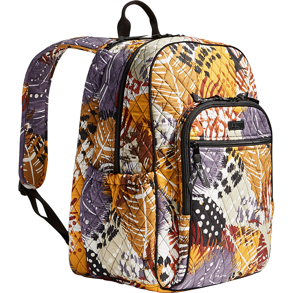 Vera Bradley Campus Tech Backpack Painted Feathers Vera Bradley Everyday Backpacks