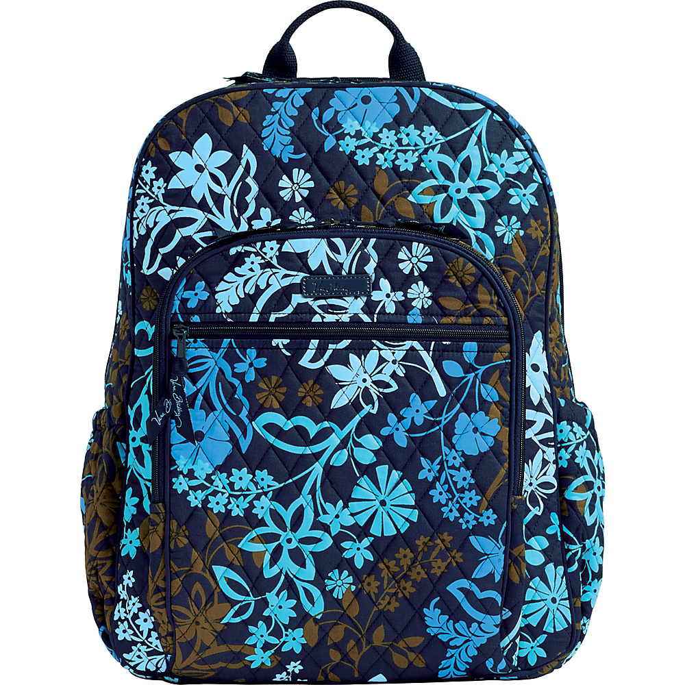 Vera Bradley Campus Tech Backpack Java Floral Vera Bradley Everyday Backpacks