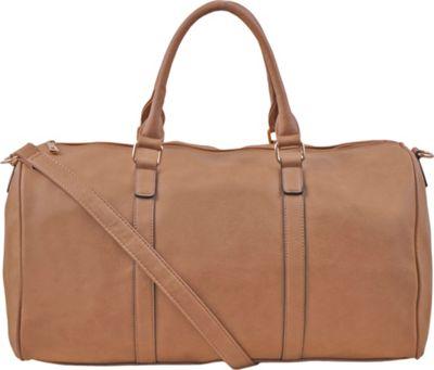 Epic Chic Malibu Skye Classic Duffel Bag Tan - Epic Chic Manmade Handbags
