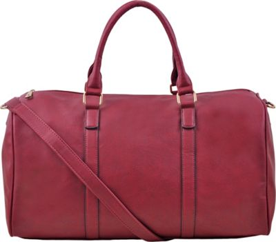 Epic Chic Malibu Skye Classic Duffel Bag Burgundy - Epic Chic Manmade Handbags