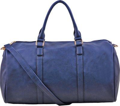 Epic Chic Malibu Skye Classic Duffel Bag Navy - Epic Chic Manmade Handbags