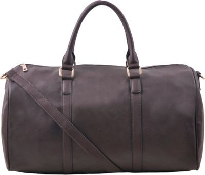 Epic Chic Malibu Skye Classic Duffel Bag Coffee - Epic Chic Manmade Handbags
