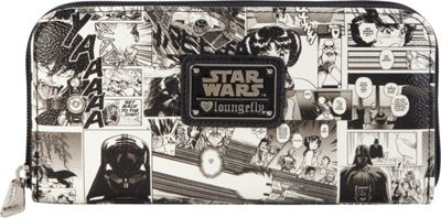 Loungefly Loungefly Star Wars Black And White Comic Wallet Blk/Wht - Loungefly Women's Wallets